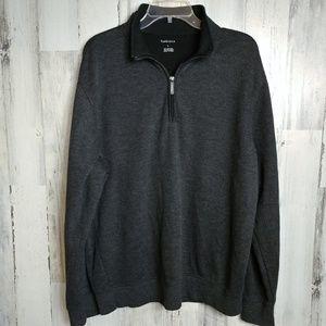Van Heusen Men's Large 1/4 Zip Pullover Sweater
